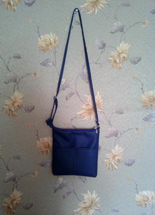 Синяя сумка через плечо