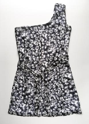 Платье летнее сарафан на одно плечо асимметричное