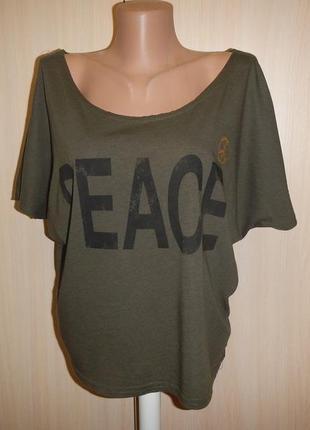 Блуза футболка оверсайз fishbone p,m\l