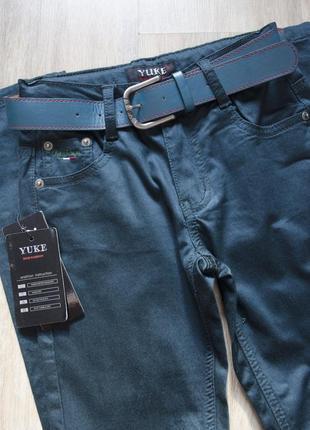 Котоновые брюки с ремнём