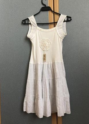 Пляжна біла сукня з італії