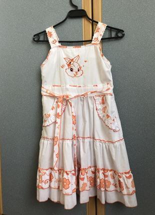 Літня котонова сукня для дівчинки