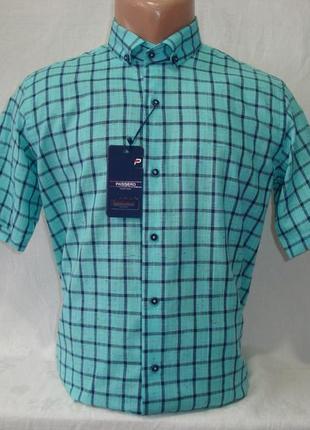 Мужская рубашка с коротким рукавом passero, турция. разные цвета.
