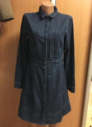 Джинсовое платье размер 10