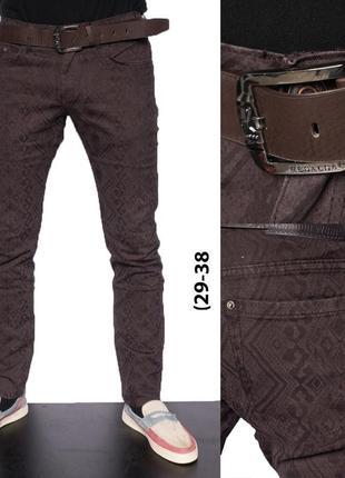 Джинсы брюки с ремнем хлопок resalsa