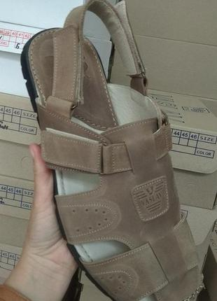 Мужские сандалии, натуральная кожа,45 размер