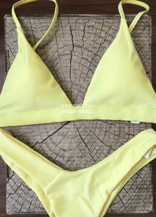 Желтый купальник бикини  😍 плавки стринги бразилиана 🔥2 фото