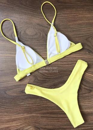 Желтый купальник бикини  😍 плавки стринги бразилиана 🔥4 фото