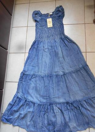 #крутое джинсовое платье в пол #qinglilaijia#размер xxl\  xl/так же пойдет на l\m\s,#10 фото