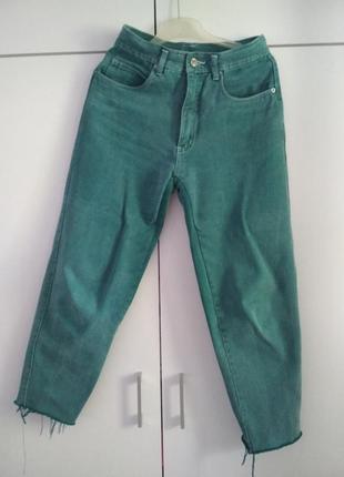 Винтажные мом джинсы, высокая посадка,  mom jeans , высокая талия