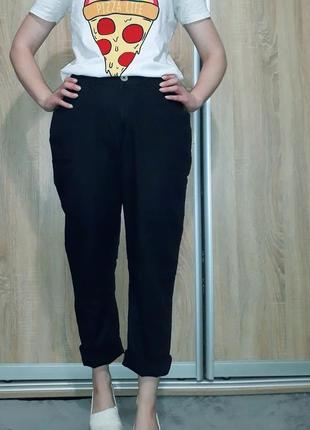 Классные льняные брюки с высокой посадкой ровного кроя с поясом-резинкой и карманами4 фото