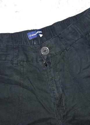 Классные льняные брюки с высокой посадкой ровного кроя с поясом-резинкой и карманами8 фото