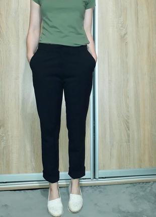 Классные брюки с карманами прямого кроя в деловом стиле h&m