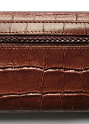 Кожаный кошелек крокодил + картхолдер , 100% натуральная кожа, есть доставка бесплатно3 фото
