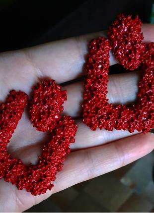 Сережки в стиле zara серьги темно красный винтаж