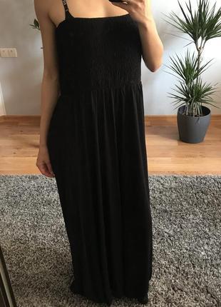Платье длинное черное плаття довге чорне george m/l