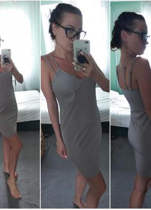 Очень красивое платье в бельевом стиле серое от missguided6 фото
