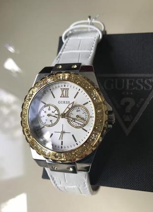 Часы guess c кристалами swarovski + в подарок топ missguided или шарф bonobo7 фото