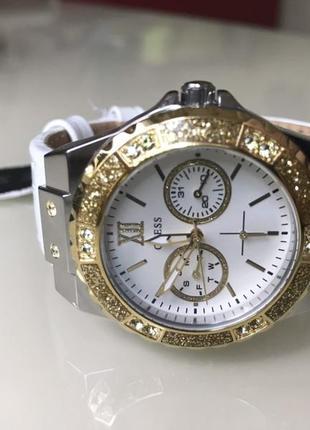 Часы guess c кристалами swarovski + в подарок топ missguided или шарф bonobo8 фото