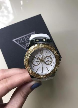 Часы guess c кристалами swarovski + в подарок топ missguided или шарф bonobo9 фото