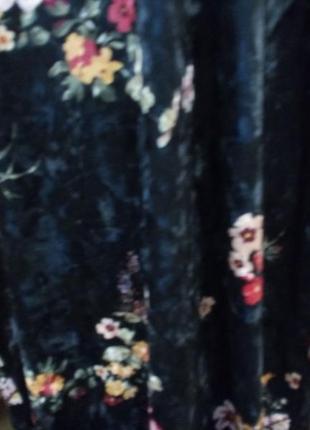Платье велюр\бархат с открытой спинкой бренд asos. 16/18р6 фото