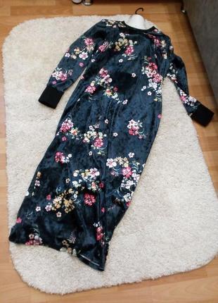 Платье велюр\бархат с открытой спинкой бренд asos. 16/18р8 фото