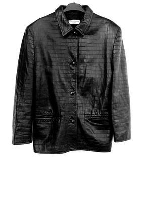 Бомбезная кожаная курточка чёрная куртка под кожу питона