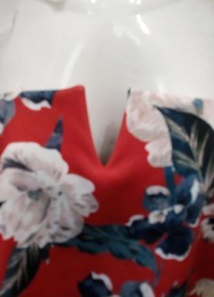 Платье в яркие цветы . бандо с топом  бренд style wise4 фото