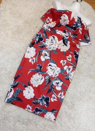 Платье в яркие цветы . бандо с топом  бренд style wise