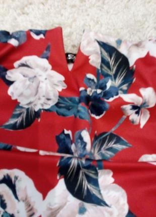 Платье в яркие цветы . бандо с топом  бренд style wise7 фото