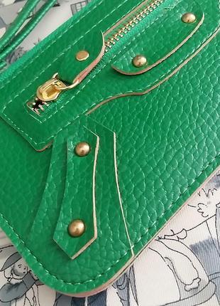 Стильный кошелек-барсетка из италии