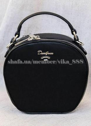 Клатч, сумка через плечо кросс-боди david jones 4025 черный