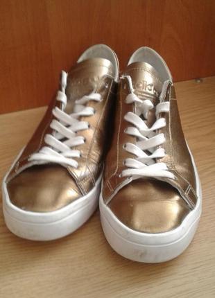 Золотистые мокасины adidas оригинал
