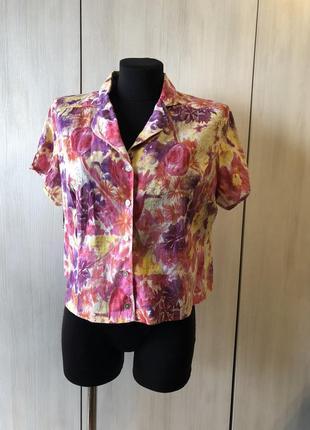 Цветная хлопковая рубашка