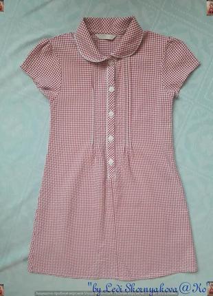 Фирменное marks & spenser летнее платье в мелкую клеточку на девочку 6-7 лет