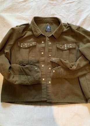 Куртка рубашка хаки