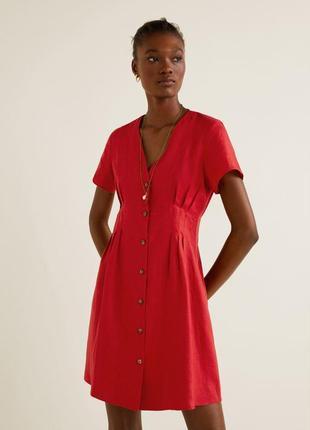 Мango лен, платье, s/l