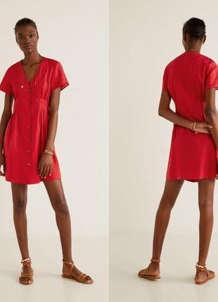 Мango лен, платье, s/l2 фото