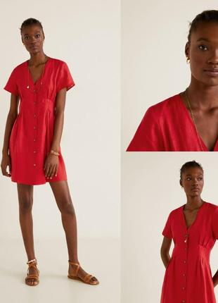 Мango лен, платье, s/l6 фото