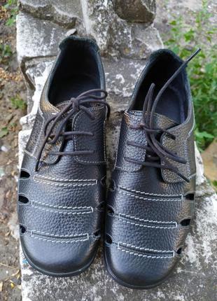 Летние  кожаные туфли, сандали, босоножки davilani