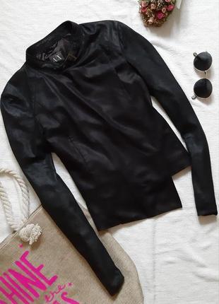 Ассиметричный пиджак косуха жакет на запах с оригинальным воротничком