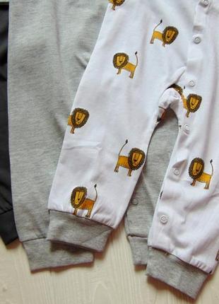 H&m. размер 9-12 месяцев. новый комплект из 3-х ярких человечков для маленького модника3 фото
