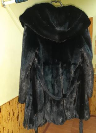 Норковая шуба с капюшоном.модель халат.греция.абсолютно новая.не дорого5 фото