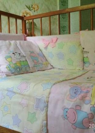 Детское постельное белье ручной работы