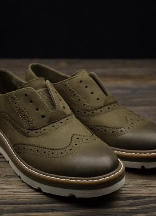 Стильні шкіряні туфлі броги лофери sperry оригінал р-37