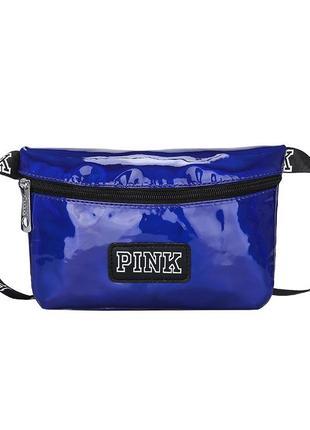 Поясная маленькая спортивная сумочка бананка victoria`s secret pink