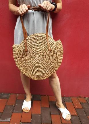 Плетёная сумка.