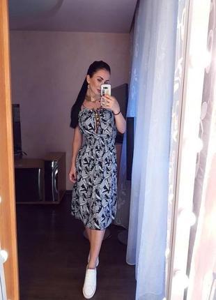 Платье сарафан принт ананас
