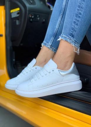 Стильные кроссовки ❤ alexander mcqueen silver ❤