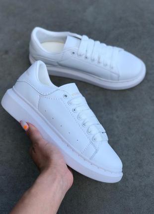 Стильные кроссовки ❤ alexander mcqueen all white❤